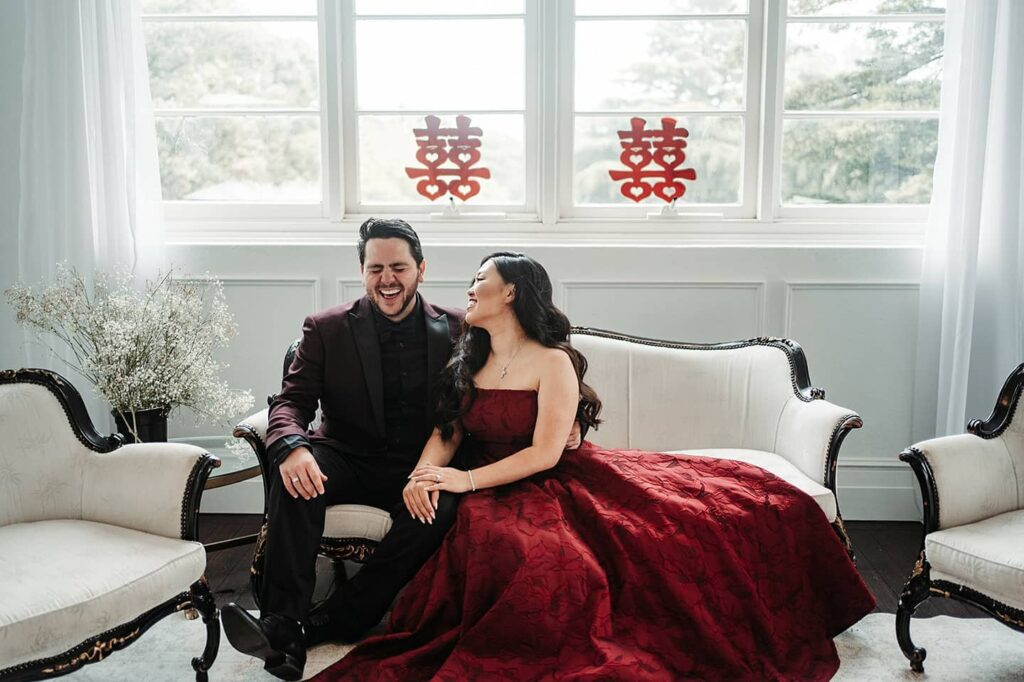 Tea Ceremony Red outfits for wedding